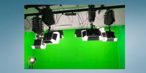 Greenscreen-Studio Grün frisch